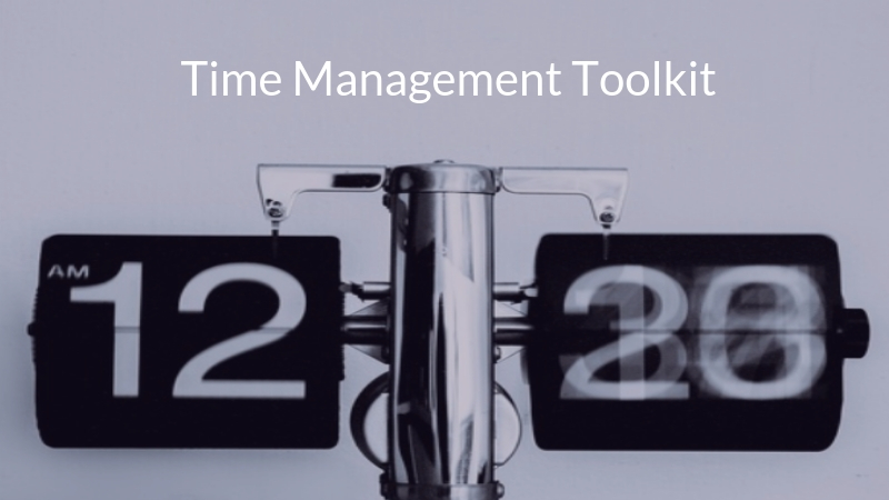 Time Management Toolkit logo: changing numbers on clock